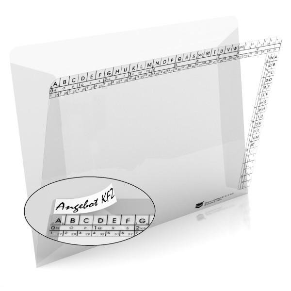 204451 Klarsichtmappen, transparent, 250 g/qm