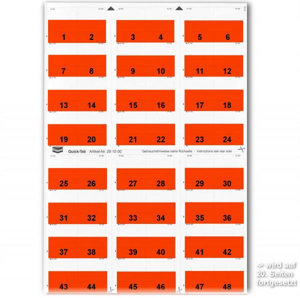 291002N Daten-Tabs mit Nr.-Druck 1-999/Serie=21Bla