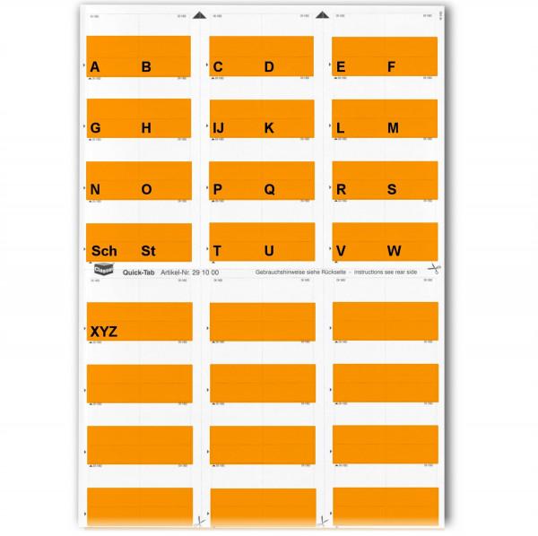 291004A Alpha-Tabs orange A-Z