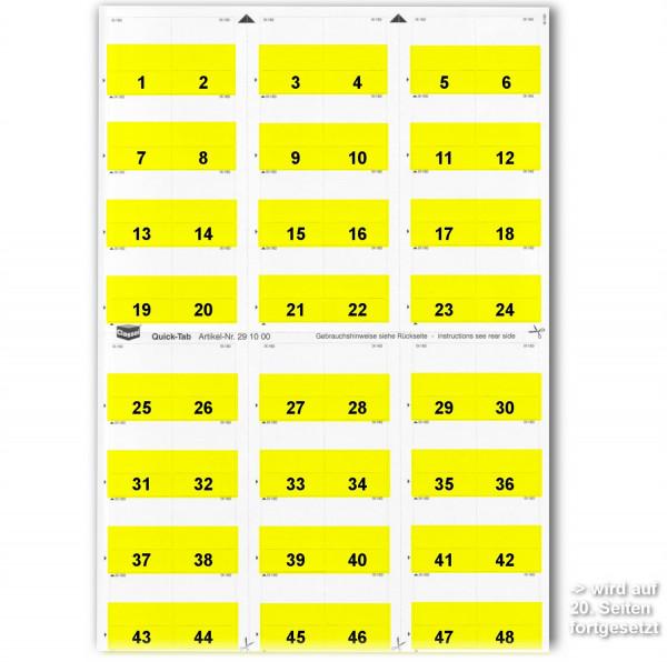 291001N Daten-Tabs mit Nr.-Druck 1-999/Serie=21Bl.