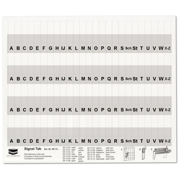 091310A Alpha-Tabs, Eindruck: A-Z, h'grau