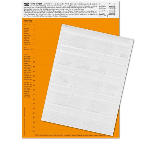 601004P Strip-Tabs-Pck. orange 10x57,5mm