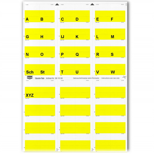 291001A Alpha-Tabs gelb A-Z