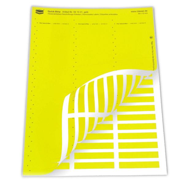 591001 Quick-Strip, gelb, ablösbar