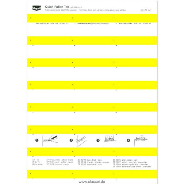571001 Folien-Tabs gelb