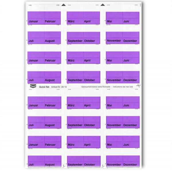 291015M Monats-Tabs violett (Januar-Dezember)