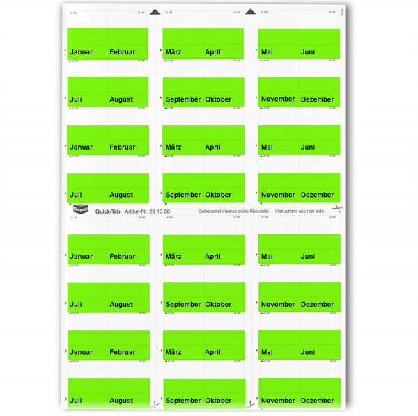 291006M Monats-Tabs grün (Januar-Dezember)
