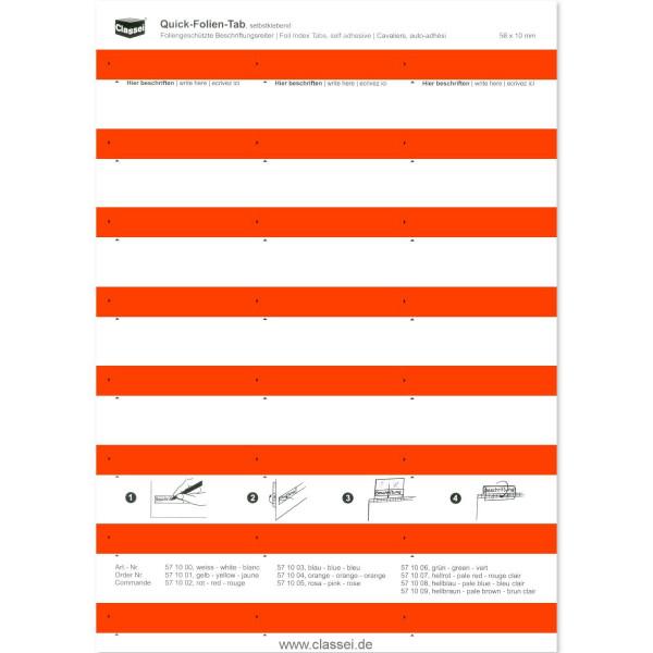 571002 Folien-Tabs rot