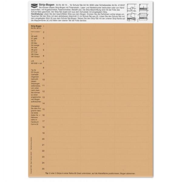 601009 Strip-Tabs hellbraun 10 x 57,5 mm
