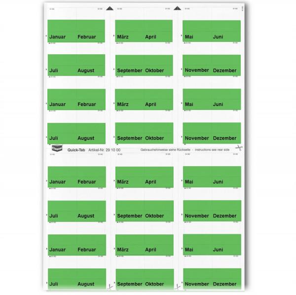 291016M Monats-Tabs dunkelgrün (Januar-Dezember)