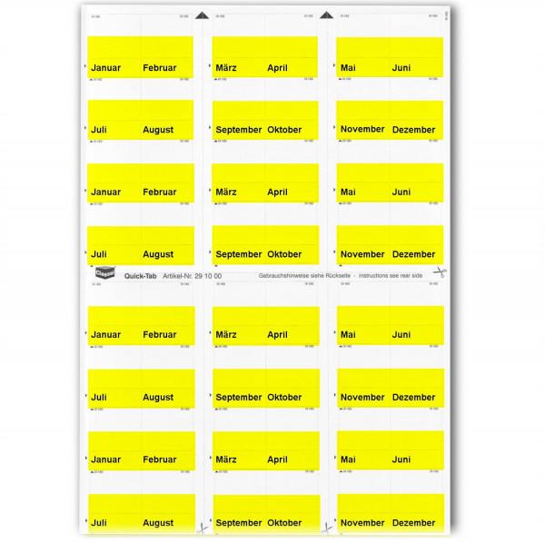 291001M Monats-Tabs gelb (Januar-Dezember)