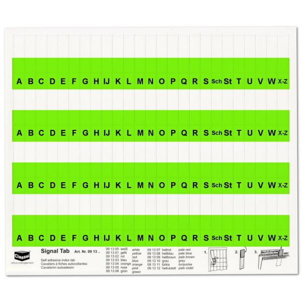 091306A Alpha-Tabs 10mm grün, A-Z