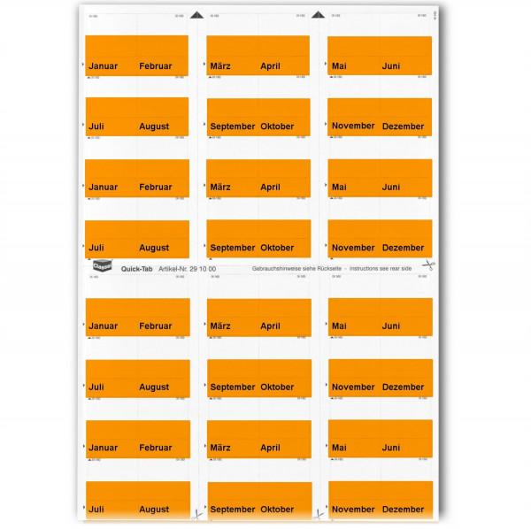291004M Monats-Tabs orange (Januar-Dezember)
