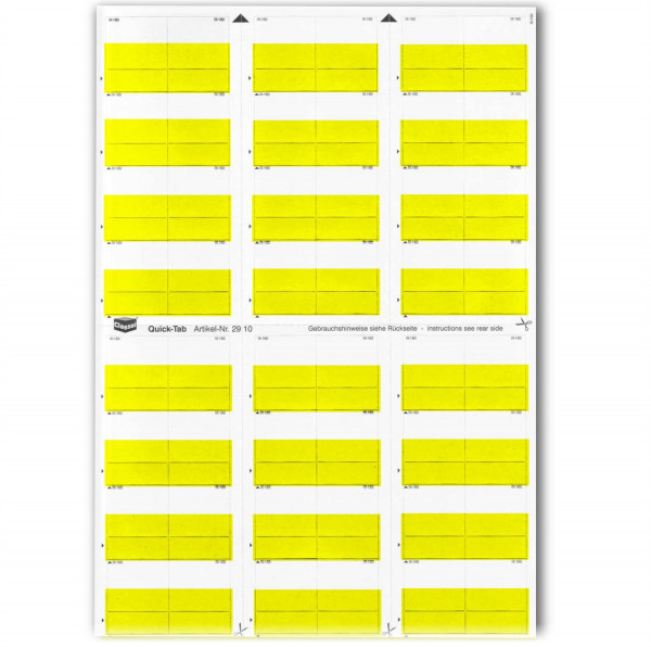 291001 Quick-Tabs gelb